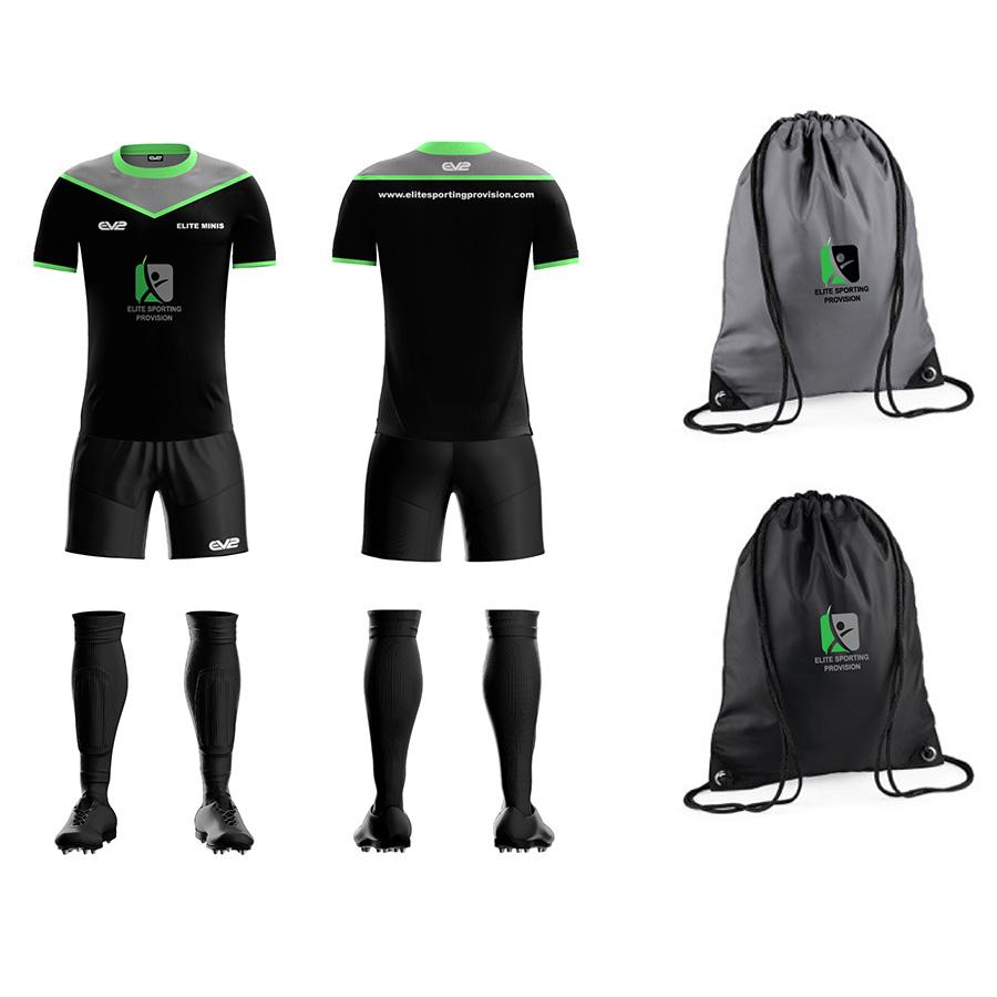 92b38bcd Football Kit Bundle – Black   EV2 Sportswear